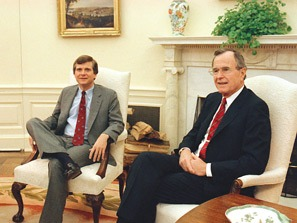 Lee Atwater with Poppy Bush. No more than a glorified servant.
