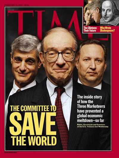 Rubin, Greenspan and Summers, the malignant axis of Wall Street Zionists deeply embedded in the US bipartisan establishment.
