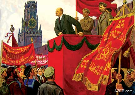 Lenin addressing workers. What would he think about the world situation today?