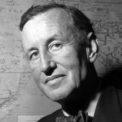 Ian Fleming, a gent of the Old School felled by a heart attack at 56—the family scourge. He knew MI6 from within and invested Bond with many of his real-life traits: heavy smoking, boozing and more than a fair appreciation for women. Like most men of his class and generation, he did not question Britain's role in the world, nor her close association with the rising American empire.