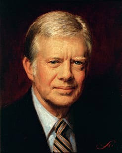 "Former president Jimmy Carter. While a member of the establishment, he rows upstream, listens to his conscience, and blows huge holes in the status quo apologists' lies. From the imperialists' viewpoint, ""he's dysfunctional."""