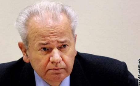 Serbia's stubborn nationalist leader Milosevic: demonized by the Western media. Grotesque hypocrisy, considering the Western leaders' own crimes.