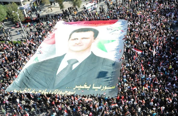 Support for Pres. Assad remains surpassingly strong, giving the lie, once again, to the Western media fallsifications and nonstop innuendo.