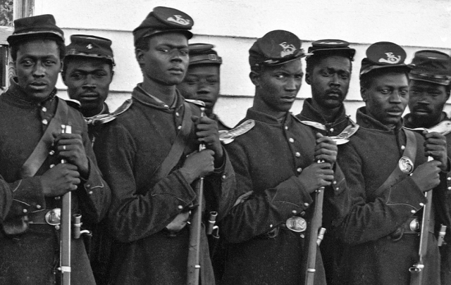 Black infantrymen in the Civil War. What would they have said about the Spielberg/Kuschner version of events.