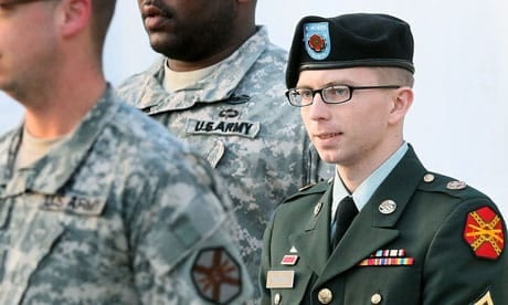 Bradley Manning at Fort Meade, Maryland. Photograph: Mark Wilson/Getty Images