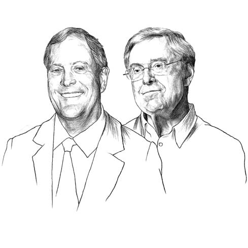David and Charles Koch: a blight on the face of the planet, and that's not figuratively.