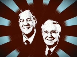 The Koch brothers: avatars of malignant plutocratic power.
