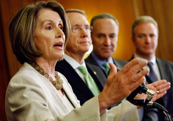 Pelosi and fellow poseurs. Te Democrats are a cruel farce, but the will is still lacking to sweep them from the stage.