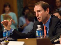 Ron Wyden: supposedly opposed to the NSA program, but he won't break with the establishment to defend Snowden or Manning.