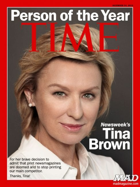 Glitterati queen Tina Brown, perfect maggot for a decomposing media.