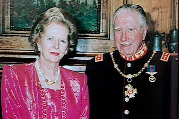 Thatcher and Pinochet: lovey-dovey. Never mind those ugly accusations.