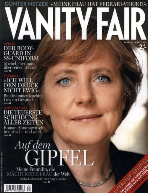 As could be expected, Merkel is a hit with the international bourgeoisie.
