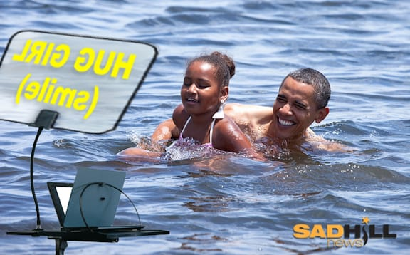 obama-teleprompter-swim-gulf-water-ocean-waterproof-swims-with-teleprompter-sad-hill-news1