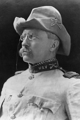 TR in the uniform that confirmed his political manhood.