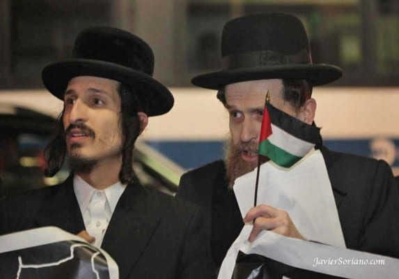 These orthodox Jews in New York object to Israel's policies.