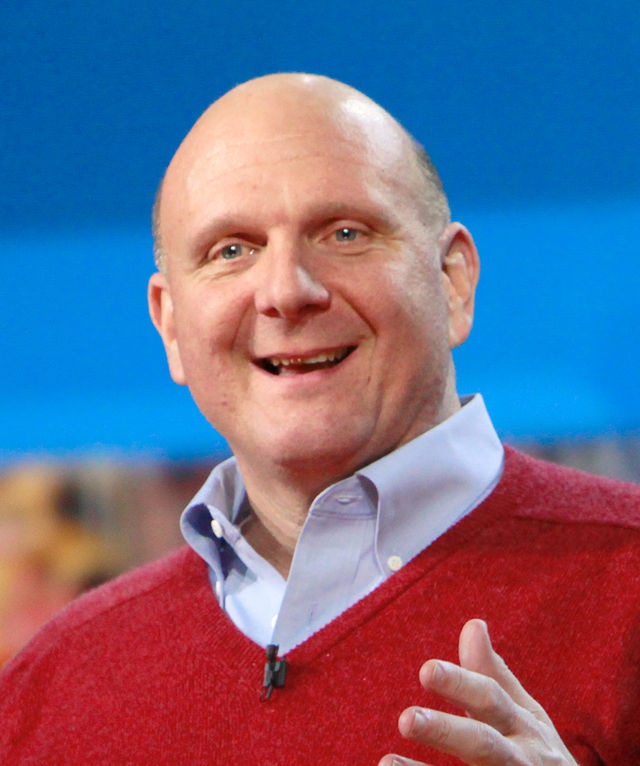 """Steve Ballmer: Two billion spent on a purchase that does absolutely no good to humanity or anything else. Just good for this guy's bloated vanity. A 6.5."""" moron."""