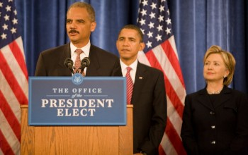 Eric Holder at the podium: As usual, too little, too late.