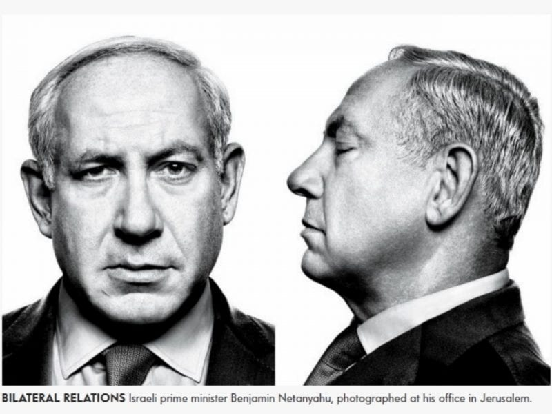 "Netanyahu's ""mugshot"" properly captures the sheer reckless criminality of this man."