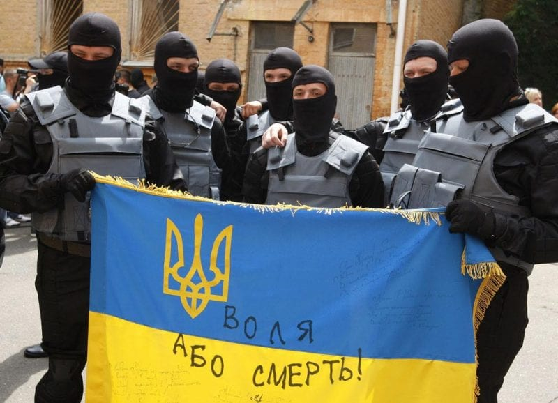 Azov Battalion volunteers take oath in Kiev
