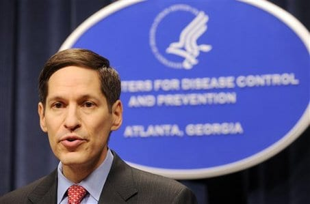 CDC head Thomas Frieden: trying to calm the waters, but clearly the Ebola threat is hardly under control.