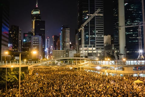 The protest in Hong Kong [Credit: FlickrUser Pasu Au Yeng]