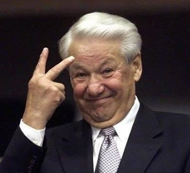 Yeltsin was as bad and as phony as Reagan was for the American population.