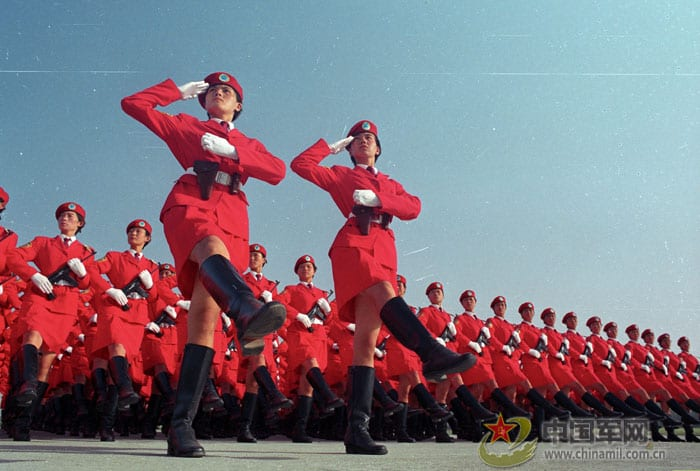 A grand military spectacle was staged in Beijing on October 1, 1999 to celebrate the 50th anniversary of the founding of the People's Republic of China (P.R.C.).