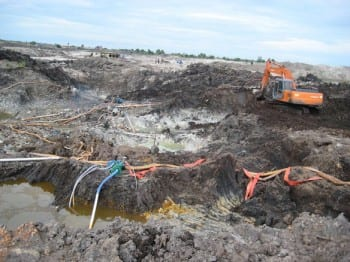 Mining for tin in the beautiful Bangka islands. The metal is used in the production of smartphones.