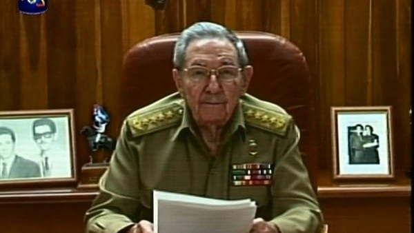 Raul Castro explaining the agreement to the Cuban people. He may have struck a Faustian bargain.