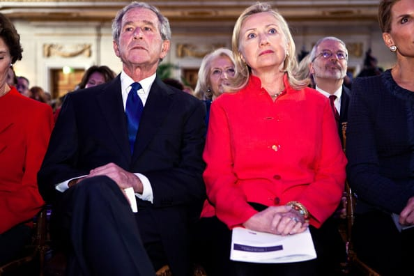 All war criminals: and helping each other rehab their tarnished images. (With the help of the presstitutes.)