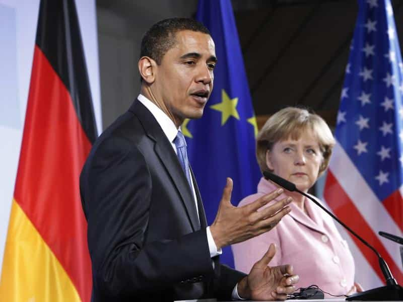 The Obama-Merkel not so-odd couple. Their ruling circles are crazy enough to entertain visions of global hegemony at almost any cost.
