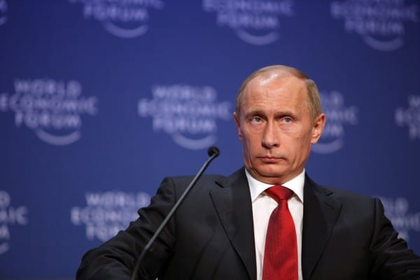 Putin attending the World Economic Forum in 2009. He may prove a tough poker player. (WEF, via flickr)