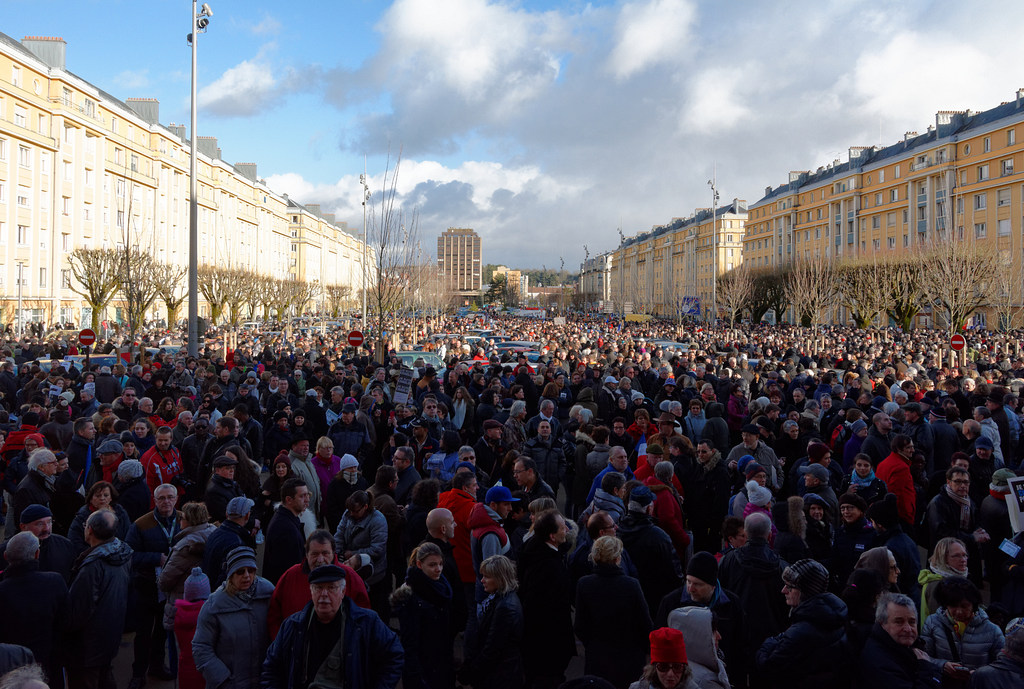 Rally in support of the victims of the 2015 Charlie Hebdo shooting, 11 jan 2015, in Belfort