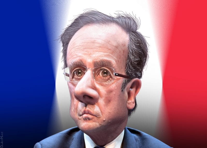 Francois Hollande: perfect opportunity to align France more tightly behind Washington's designs (via DonkeyHotey-flickr).