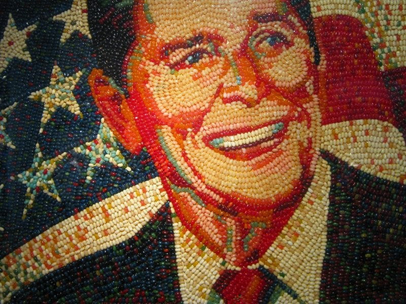 Jelly Bean Reagan—an apt representation of the man's lack of substance. (Ryan Dicket