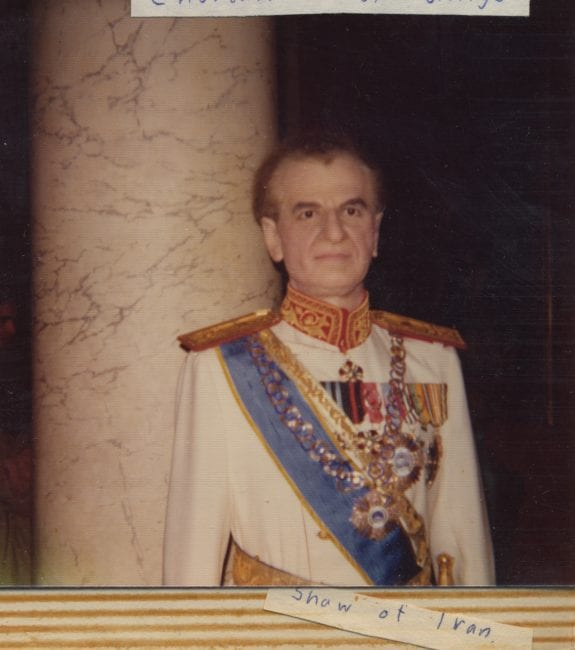 The late Shah M. Reza Pahlavi immortalized in Madame Tussaud's wax figure collection.