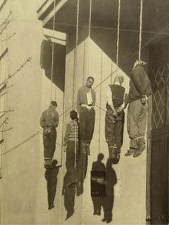 Ukraine, Kharkov, Civilians hanged by the Germans in retaliation