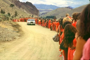 The Rajneesh Cult became popular in the 1980s in Europe and US.