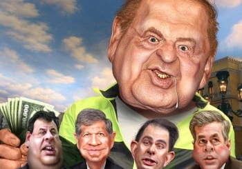 Adelson and his billions cast a long shadow among subservient politicians.