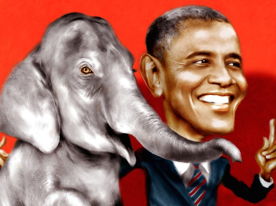 Obama has been and remains one of the most loyal and efficient salesmen of the imperial project. He has clearly exceeded the expectations of the plutocrats that chose him as a front. (Image by DonkeyHotey, via flickr)