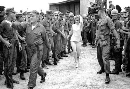 "If the Donbass war expands, we may soon see some of the idiotic USO shows supposedly staged for ""morale boosting."" Image: Ann Margret, on tour with Bob Hope in Vietnam, reminding the boys what they fight for."