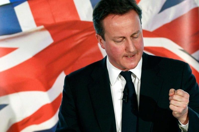Cameron: Like all modern demagogs, never loses an opportunity to wrap himself in the flag.