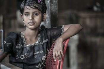 Rohingya girl. Her beauty might spare her some of the hardships dealt to so many others.