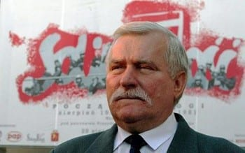 Lech Walesa, the West's Polish poodle, and a major useful idiot, was also in attendance.