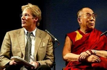 Gere with the Dalai Lama.
