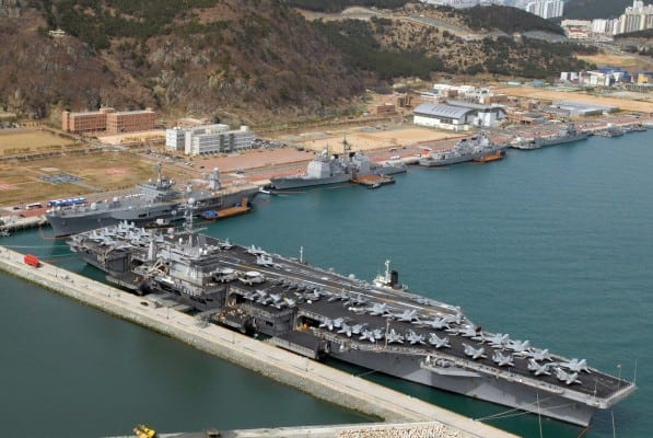 The US Navy in  Busan, Republic of Korea.