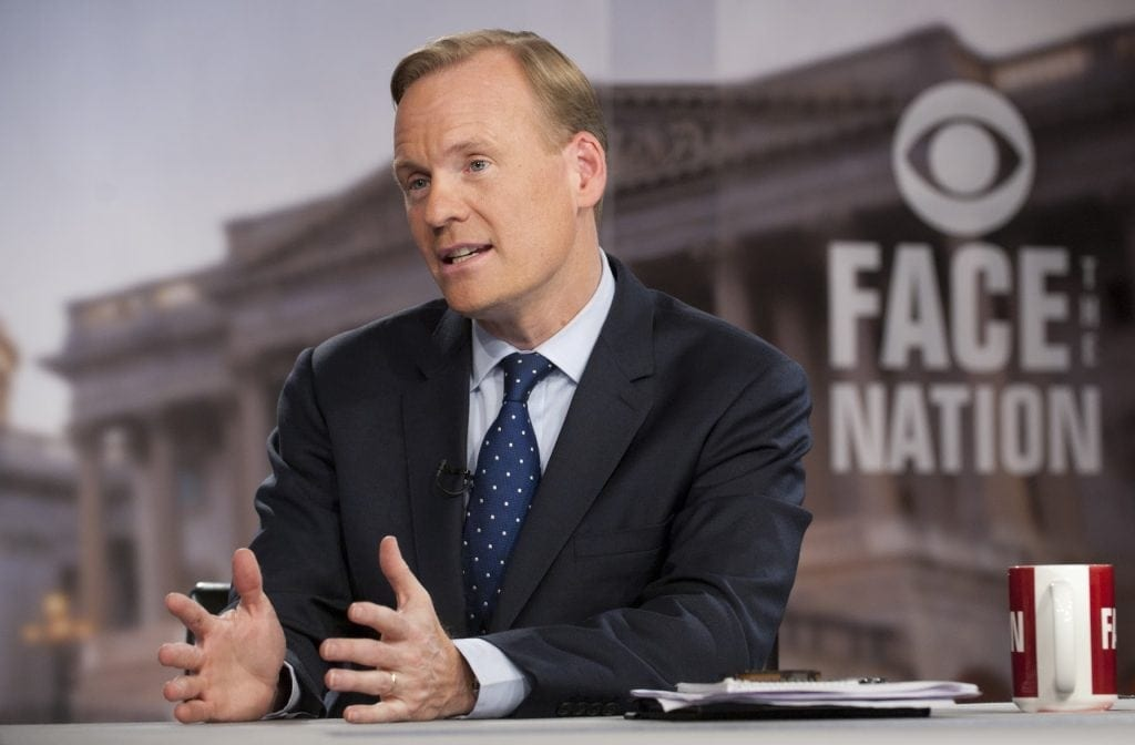 "John Dickerson, new host for CBS ""Face The Nation"", an utterly boring but influential corporatist/imperialist program previously helmed by Bob Schieffer. Men serving in"