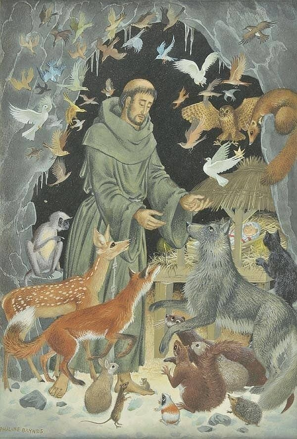 Francis is recognized as the patron saint of animals and the environment, and in his life he demonstrated his love for nature and all creatures numerous times. (Pauline Baynes)