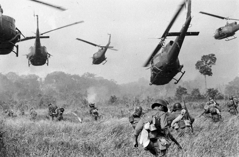 US military bringing democracy to the vietnamese.