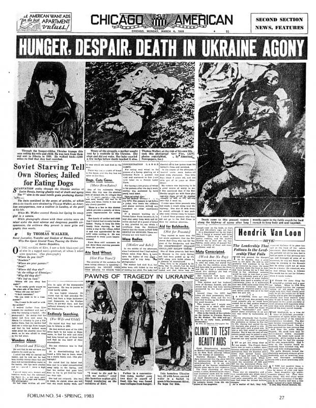 The Holodomor Hoax Joseph Stalins Crime That Never Took Place Holodomor Chicago American Hearst March   On Holodomor Genocide  The Holodomor Hoax Joseph Stalins Crime That Never Took Place